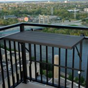 Outdoor Greatroom Deck Rail-Mount Grill Shelf