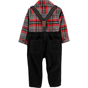 Baby Boy Carter's 3-Piece Suspenders, Pants & Bodysuit Dress Me Up Set
