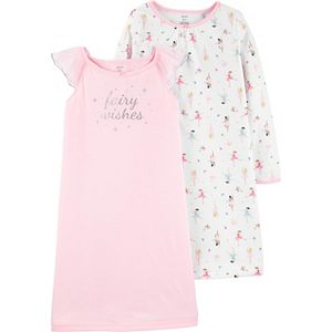 Girls 4-14 Carter's 2-Pack Fairy Nightgowns