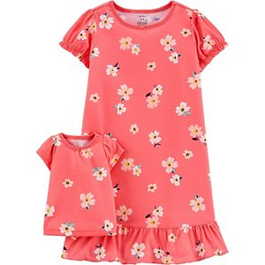 Girls 4-14 Carter's Floral Matching Nightgown & Doll Nightgown Set