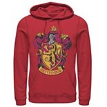 Men's Harry Potter Gryffindor House Crest Graphic Pullover Hoodie