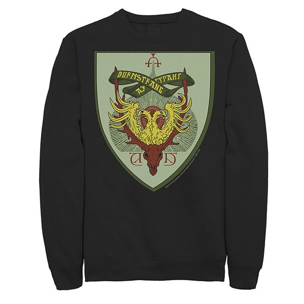 Men S Harry Potter Durmstrang Crest Fleece Graphic Pullover There's hogwarts, a mixture of hog and warts and. men s harry potter durmstrang crest fleece graphic pullover