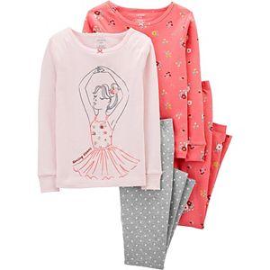 Girls 4-14 Carter's 4-Piece Snug Fit Pajama Set