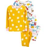 Girls 4-14 Carter's 4-Piece Snug Fit Pajama Set