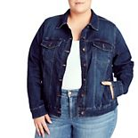 Plus Size Chaps Jean Jacket