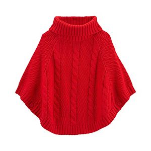 Girls 4-14 Carter's Cable Knit Poncho