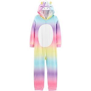 Girls 4-14 Carter's Unicorn Hooded Fleece Footless Pajamas