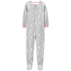 Girls 4-14 Carter's 1-Piece Fleece Footie Pajamas