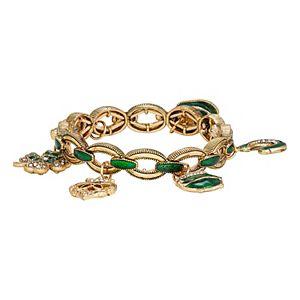 Napier Gold Tone Lucky Charm Stretch Bracelet