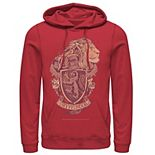 Men's Harry Potter Gryffindor Detailed Crest Graphic Pullover Hoodie