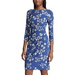 Women's Chaps Floral Side-Ruched Sheath Dress