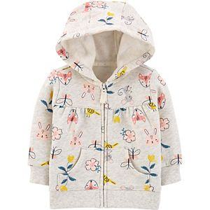 Baby Girl Carter's Zip-Up Fleece Hoodie
