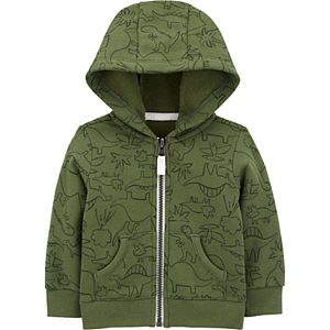 Baby Boy Carter's Dinosaur Zip-Front Fleece Jacket