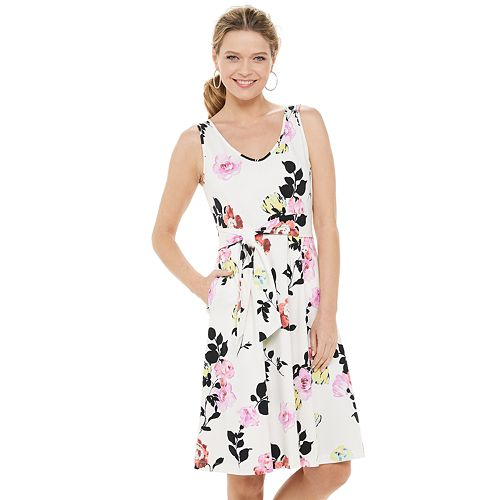 Petite Apt. 9® Sleeveless Fit & Flare Dress
