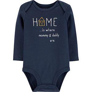 Baby Carter's Home Mommy & Daddy Bodysuit