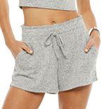 Juniors' SO® Scrunched Waistband Cozy Dorm Shorts