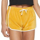Juniors' SO® Velour Dolphin Shorts