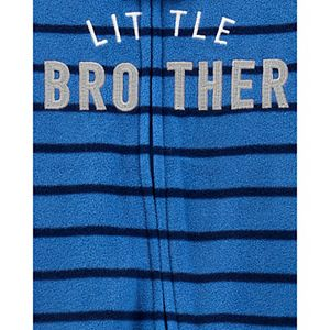 "Baby Boy Carter's ""Little Brother Zip Fleece Sleep & Play"