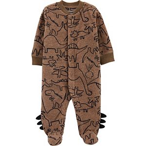 Baby Boy Carter's Dinosaur Snap-Up Fleece Sleep & Play