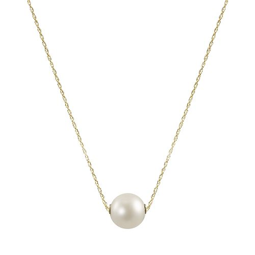 14k Gold Freshwater Cultured Pearl Necklace