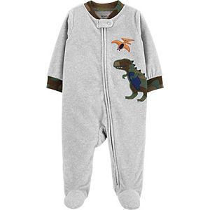 Baby Boy Carter's Dinosaur Zip Fleece Sleep & Play