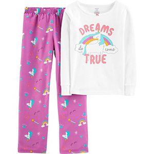 Girls 4-14 Carter's 2-Piece Fleece Snug-Fit Pajama Set