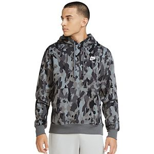 Big & Tall Nike Club Camo Pullover Hoodie