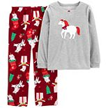 Girls 4-14 Carter's 2-Piece Unicorn Christmas Fleece Pajama Set