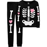 Girls 4-14 Carter's Halloween Skeleton Pajama Set