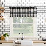Top Of The Window Buffalo Plaid Grommet Kitchen Curtain Valance