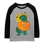 Boys 4-14 Carter's Halloween Dinosaur Glow-in-the-Dark Raglan Jersey Graphic Tee