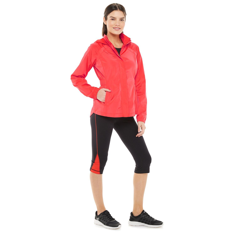 Women's FILA SPORT® Smocked Hooded Woven Jacket