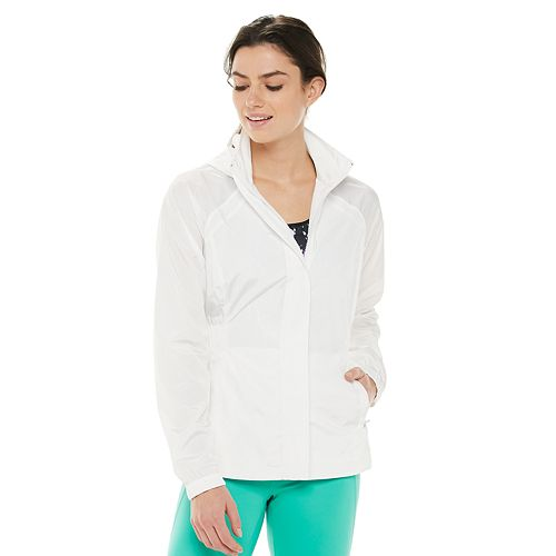 Women's FILA SPORT® Smocked Hooded Woven Jacket