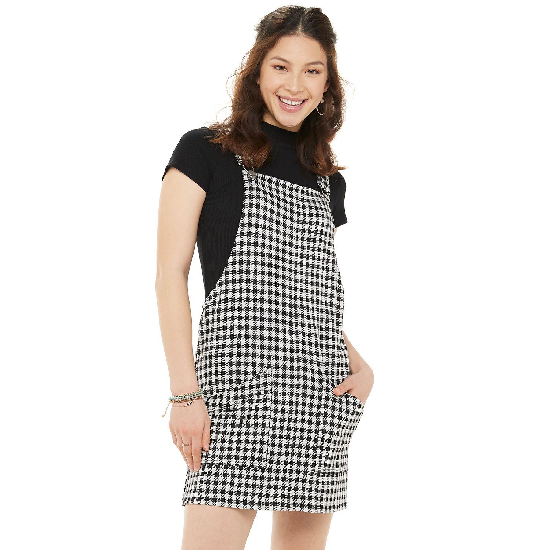 Juniors' SO® Knit Pinafore Dress