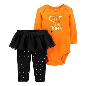 Baby Girl Carter's 2-Piece Halloween Bodysuit & Tutu Pants Set