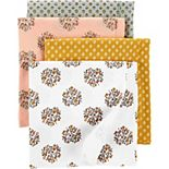 Baby Girl Carter's 4 Pack Receiving Blankets
