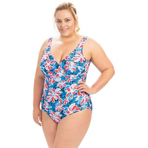 Plus Size Dolfin Aquashape Floral Ruched One-Piece Swimsuit