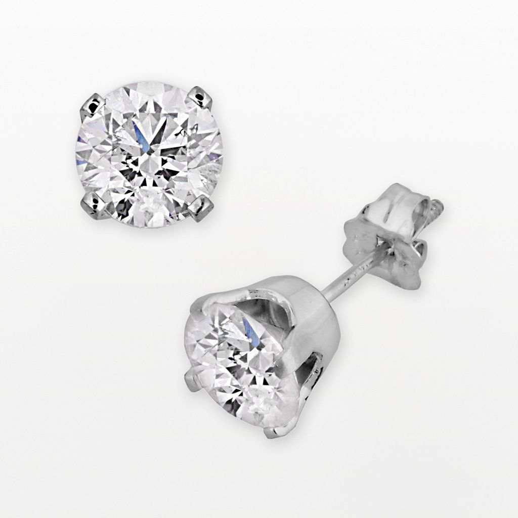 14k White Gold 2-ct. T.W. Diamond Solitaire Stud Earrings