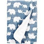 Baby Carter's Elephant Fuzzy Plush Blanket