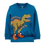 Baby Boy Carter's Dinosaur Snow Yarn Tee