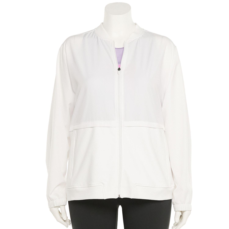 Plus Size Tek Gear® Mixed-Media Windbreaker Jacket