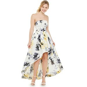 Juniors' Speechless Strapless Hi Low Floral Dress