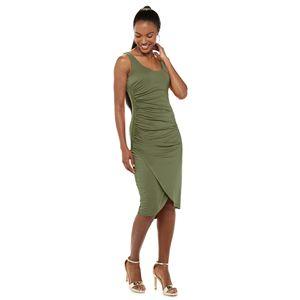 Women's Jennifer Lopez Side-Ruched Fitted Dress