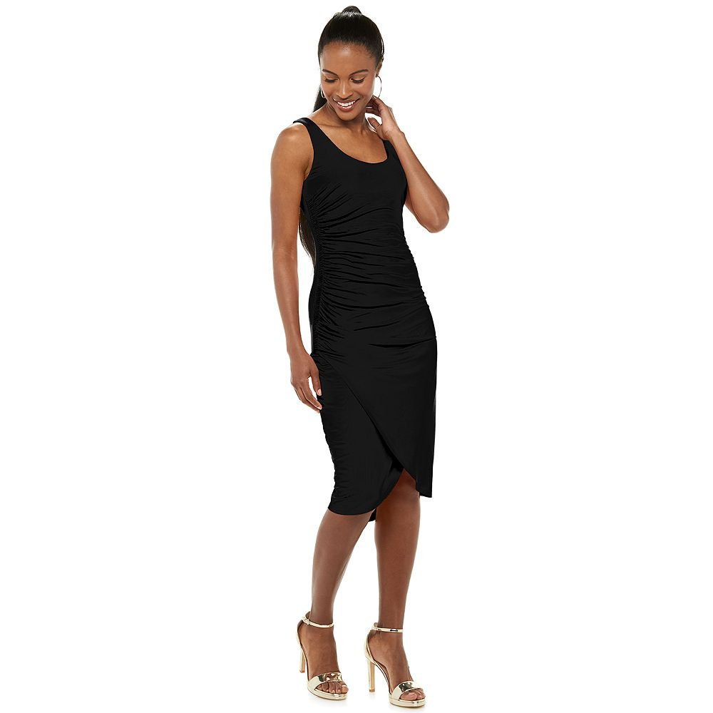 Women's Jennifer Lopez Side-Ruched Fitted Dress