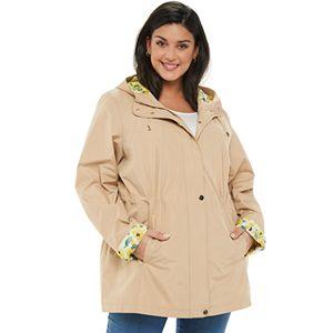 Plus Size d.e.t.a.i.l.s Radiance Hooded Rain Jacket