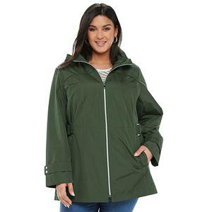 Plus Size d.e.t.a.i.l.s Radiance Hooded Side-Tab Jacket