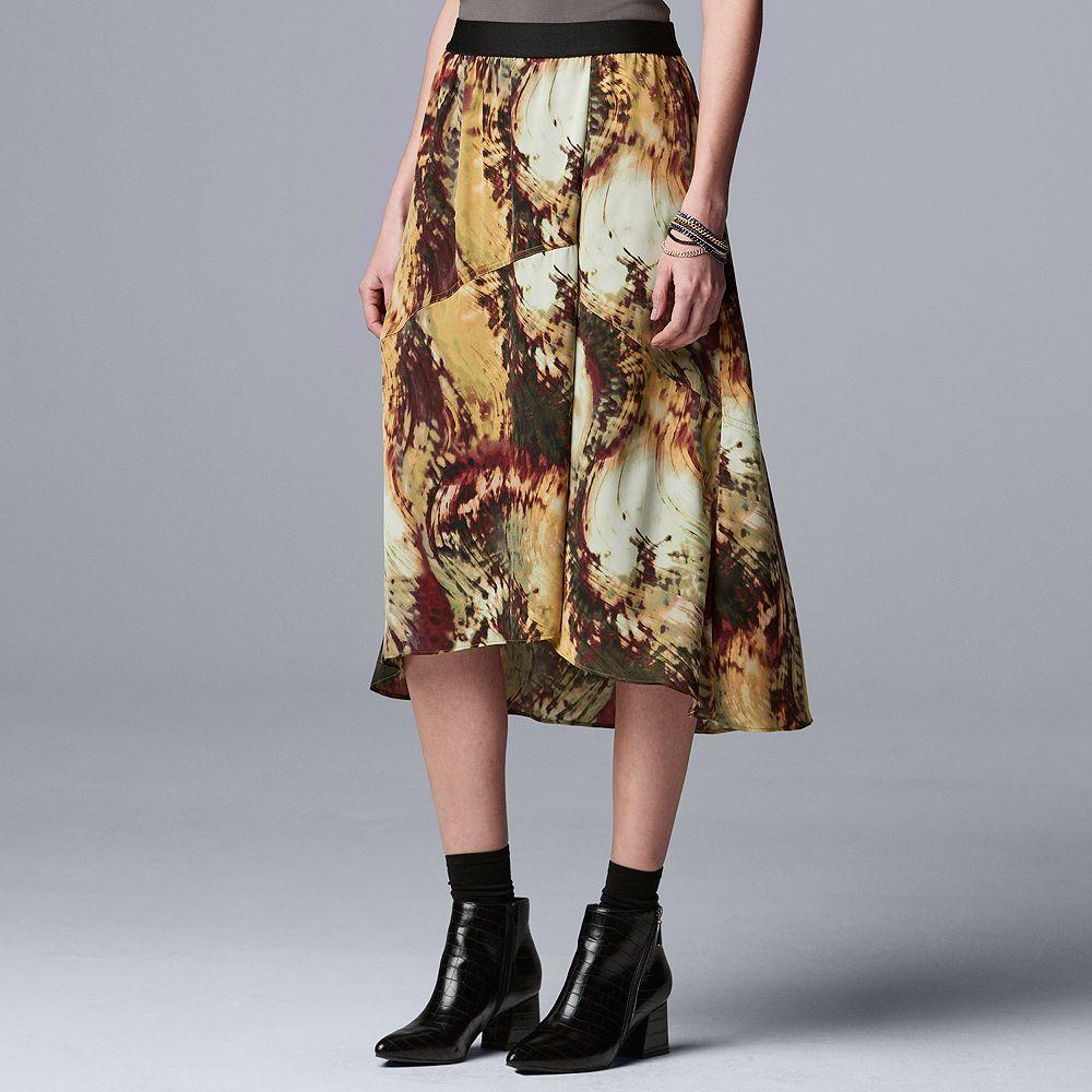 Petite Simply Vera Vera Wang Asymmetrical Pull-On Skirt