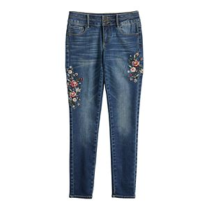 Girls 4-20 & Plus Size SO® Mid Rise Double Button Super Skinny Jeans