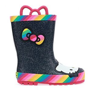 Western Chief Hello Kitty Rainy Bow Toddler Girls' Waterproof Rain Boots