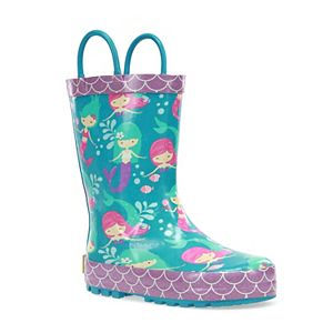 Western Chief Merry Mermaids Toddler Girls' Waterproof Rain Boots